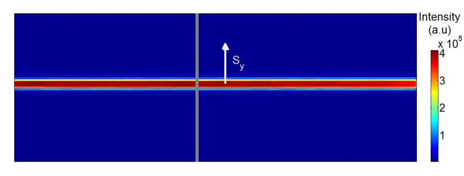 An image of the reference beam from the Zyla 5.5 HF