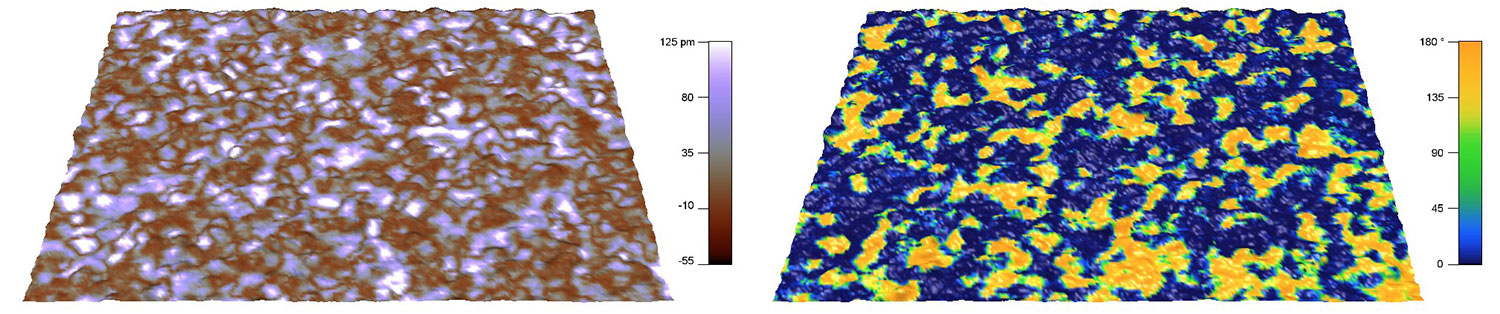 DART PFM images of Hafnium Oxide thin film taken with an Asylum Research Cypher S scanning probe microscope