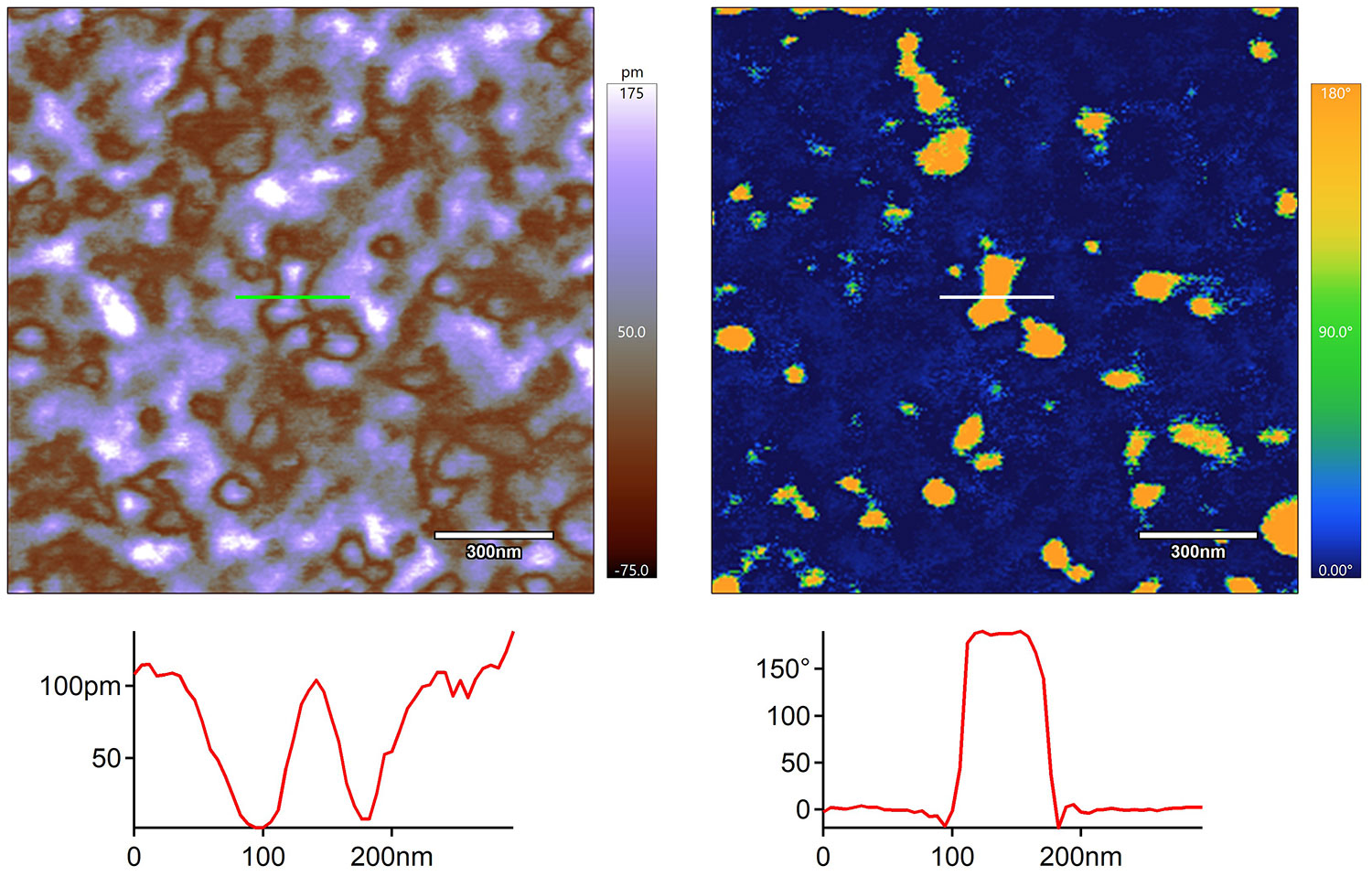 DART PFM images of a Hafnium Oxide thin film taken with an Asylum Research atomic force micrscope (AFM)