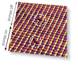 Point defects in calcite imaged with a Cypher AFM