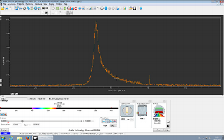 Screenshot of collected VSF spectrum in Solis. For a high signal reference sample (CO adsorbed on the Pt(100) surface