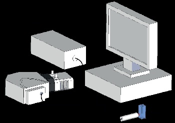 Schematic of experimental setup showing the Raman probe delivering the excitation source to the sample, collecting the Raman signal and delivering it into the spectrograph