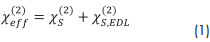 Principles of sum-frequency spectroscopy - equation 1