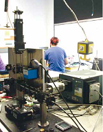 Experimental setup of the confocal microscopic spectrometer