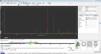 Solis software user interface for spectroscopy with Zyla / iStar sCMOS and Shamrock spectrographs real-time controls