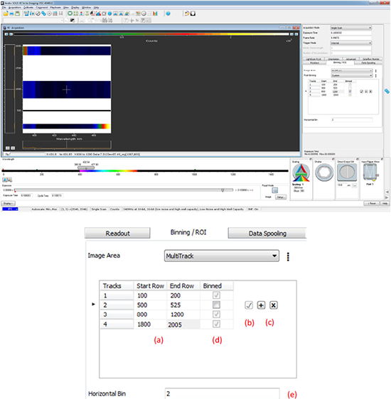 Multi-track interface in Solis software