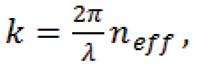 The wave vectors can be replaced by scalars of effective wave numbers for the individual guided mode